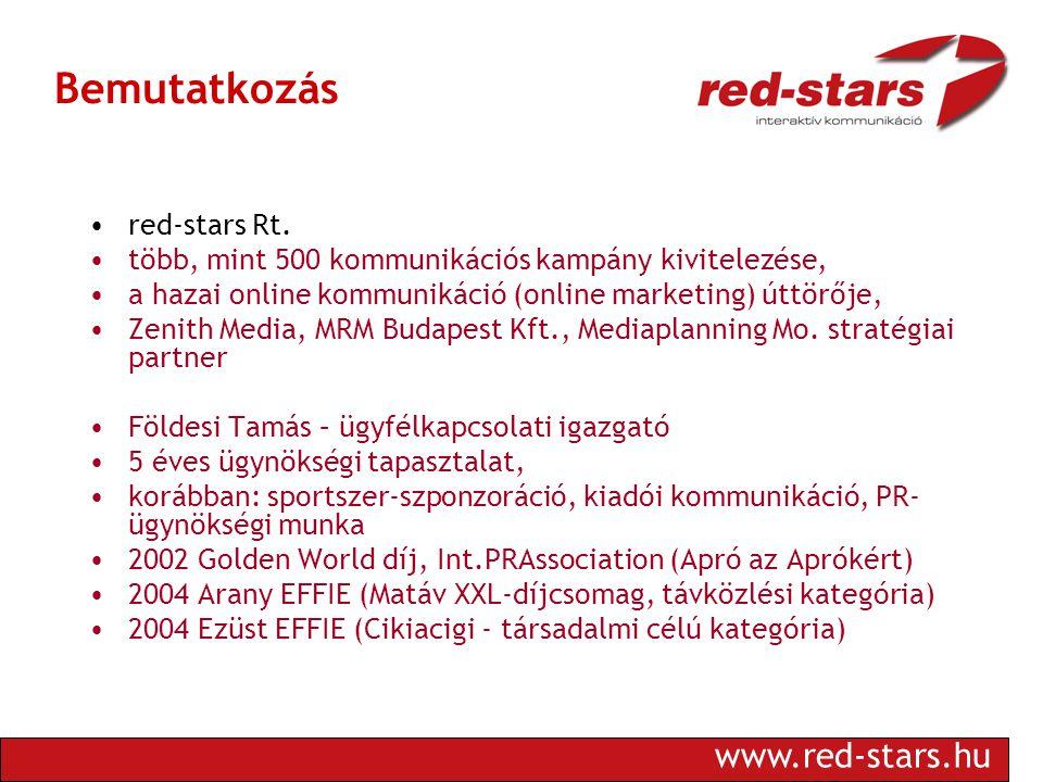 www.red-stars.hu Bemutatkozás •red-stars Rt.