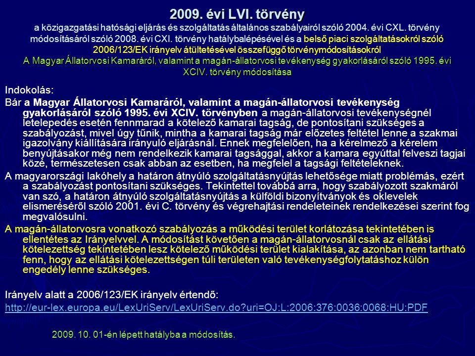 2009. évi LVI.
