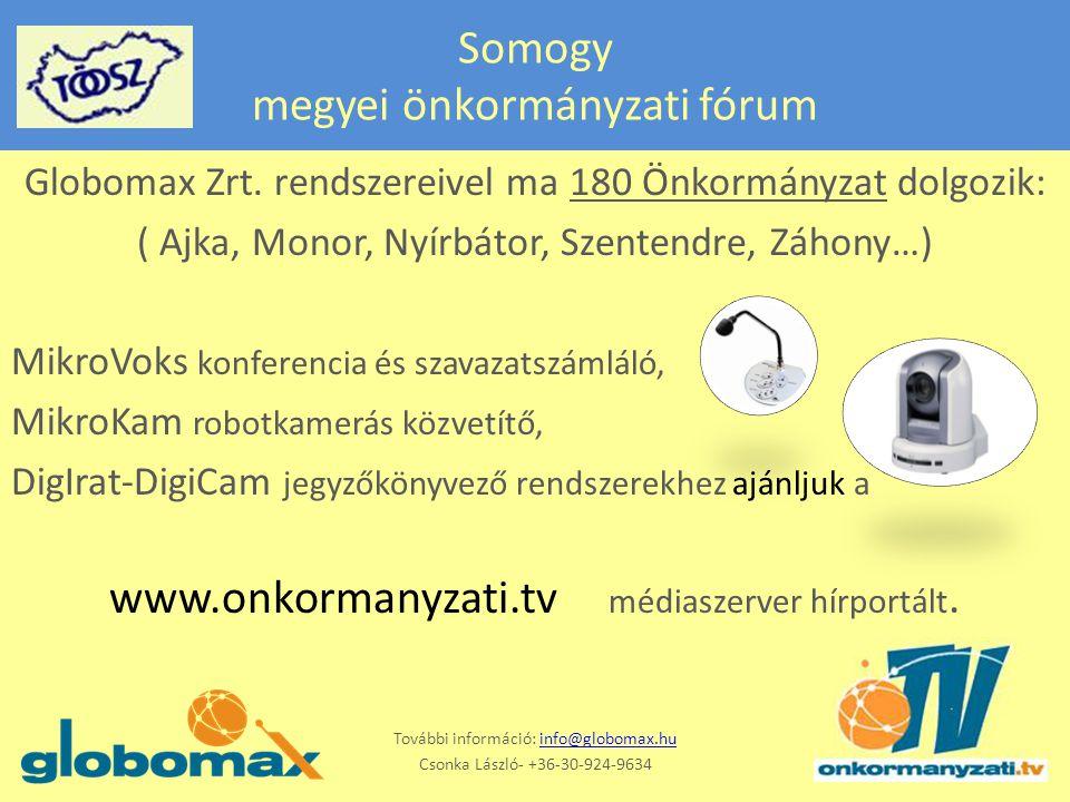 Somogy megyei önkormányzati fórum Globomax Zrt.