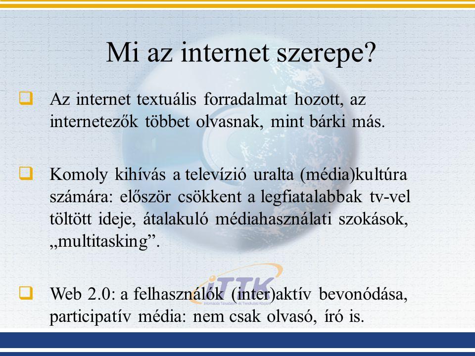 Mi az internet szerepe.