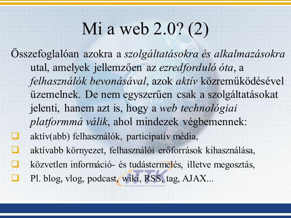 Mi a web 2.0.