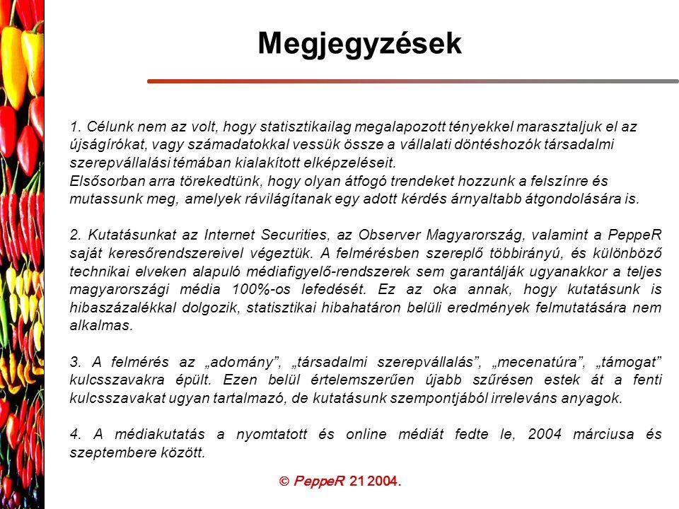  PeppeR 21 2004. Megjegyzések 1.