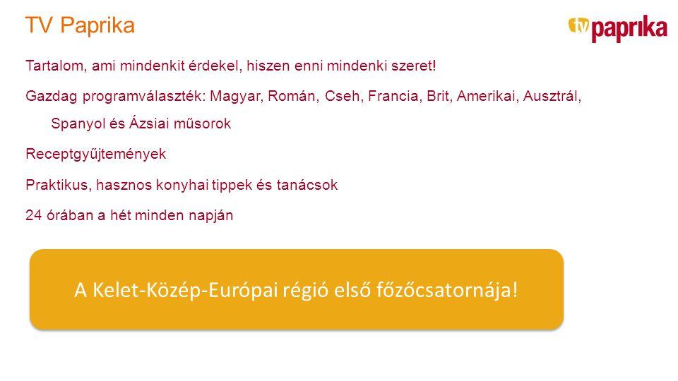 TV Paprika Tartalom, ami mindenkit érdekel, hiszen enni mindenki szeret! Gazdag programválaszték: Magyar, Román, Cseh, Francia, Brit, Amerikai, Ausztr