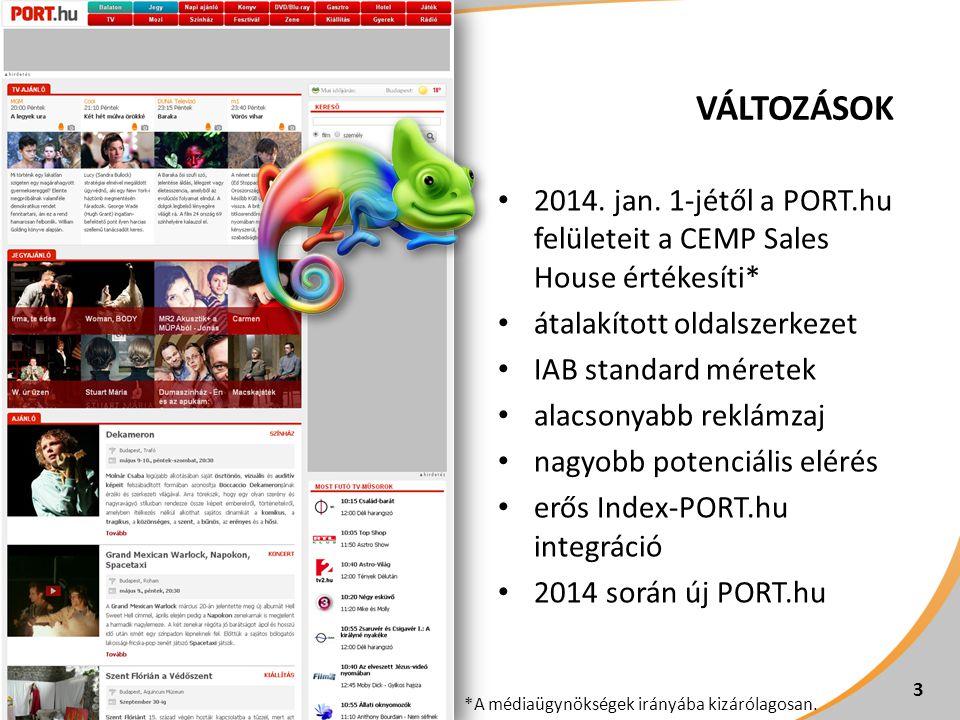 14 SZPONZORÁCIÓS LEHETŐSÉGEK Kreatív PORT.hu teljes site* PORT.hu címlap PORT.hu Mozi minden oldal PORT.hu TV nyitó PORT.hu TV aloldalak Full-screen szponzoráció + super leaderboard egyedi- 1 650 000 Ft /nap 1 600 000 Ft /nap - 2 500 000 Ft /nap TV készülék szponzoráció egyedi--- 1 900 000 Ft /nap Képgaléria XL szponzoráció 950x410 px, statikus 2 500 000 Ft /hét ---- 20 órás műsorsáv szponzoráció háttérszín** + roadblock minden TV oldalon*** --- 2 100 000 Ft / nap - Csatorna szponzorációegyedi--- 4 400 000 Ft / hét - Virtuális csatornaegyedi--- 4 900 000 Ft / hét - * PORT.hu minden rovat, kivéve Kiállítás.
