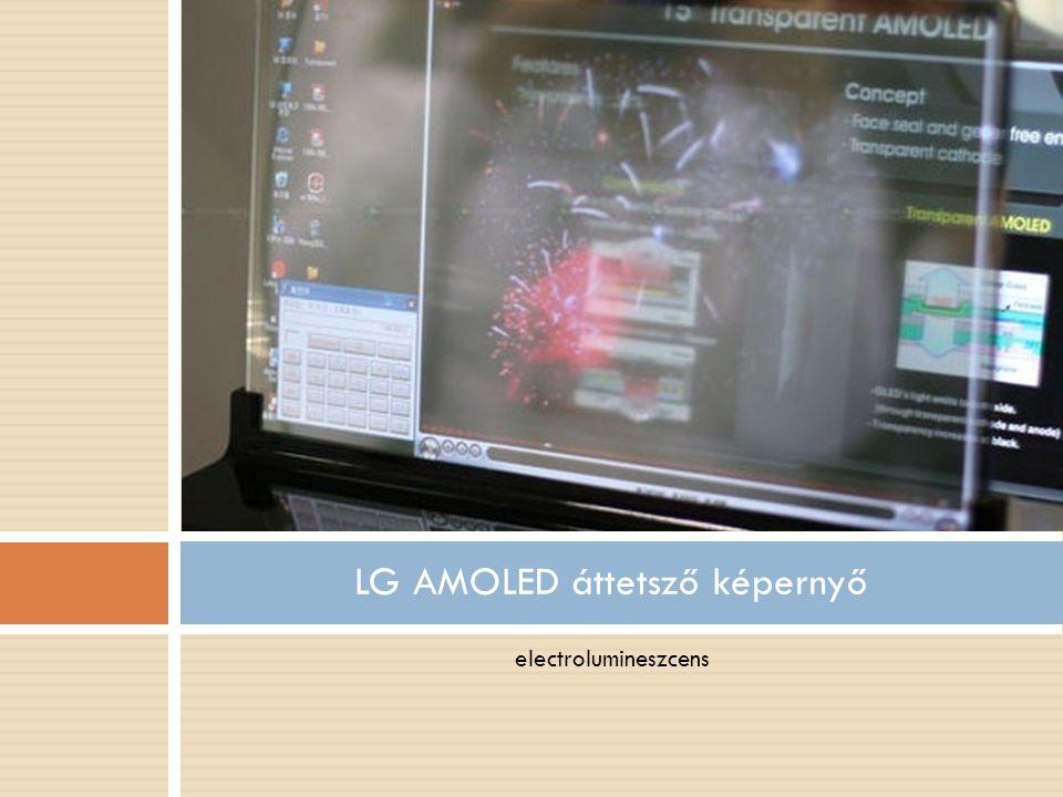 electrolumineszcens LG AMOLED áttetsző képernyő