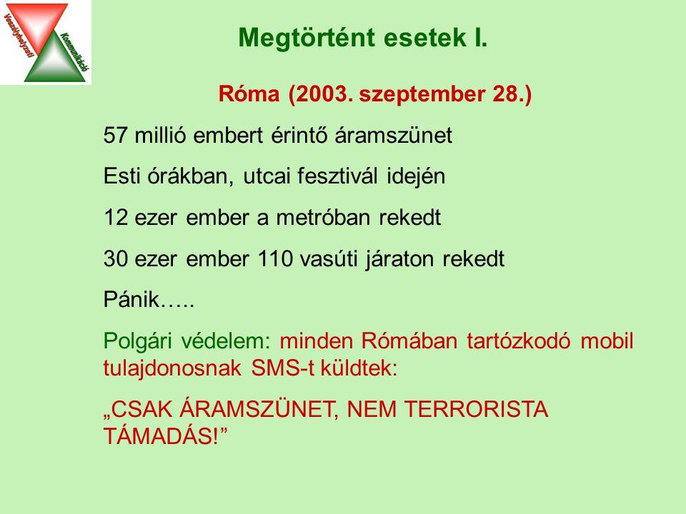 Megtörtént esetek I. Róma (2003.