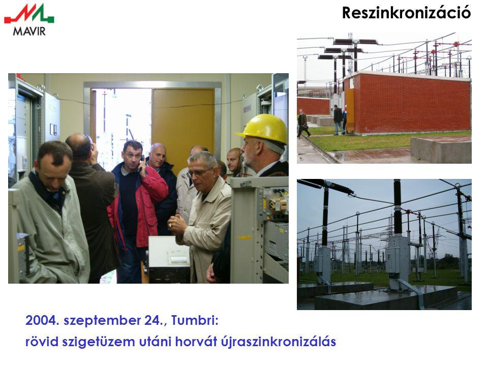 Reszinkronizáció 2004. szeptember 24., Tumbri: rövid szigetüzem utáni horvát újraszinkronizálás