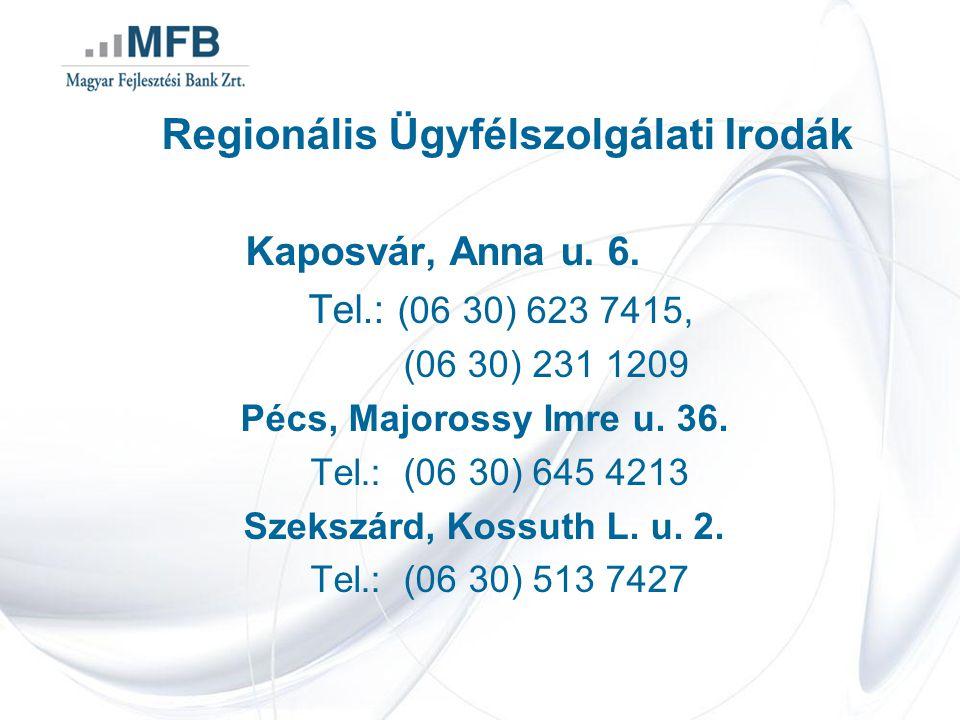 Regionális Ügyfélszolgálati Irodák Kaposvár, Anna u.