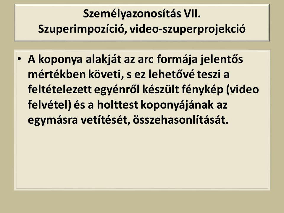 Személyazonosítás VII.