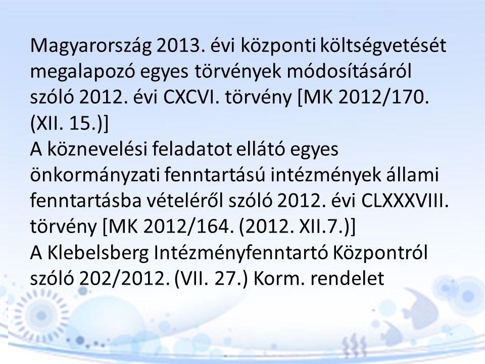 INTÉZMÉNYI ALAPDOKUMENTUMOK FELÜLVIZSGÁLATA, MÓDOSÍTÁSA Pedagógiai program 2012.