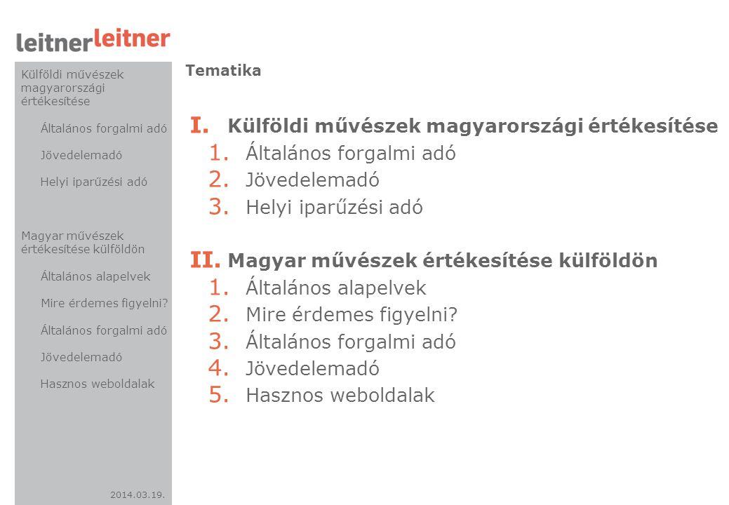 2014.03.19.I. Külföldi művészek magyarországi értékesítése 3.