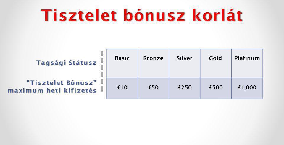 BasicBronzeSilverGoldPlatinum £10£50£250£500£1,000