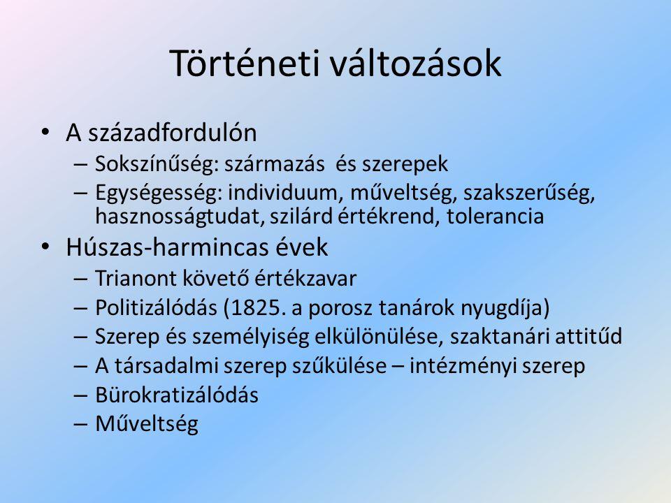 Történeti változások II.