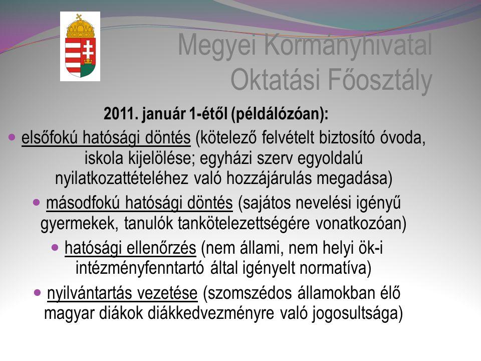 Megyei Kormányhivatal Oktatási Főosztály 2011.