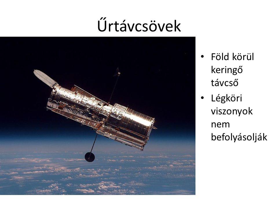 Űrtávcsövek • Föld körül keringő távcső • Légköri viszonyok nem befolyásolják