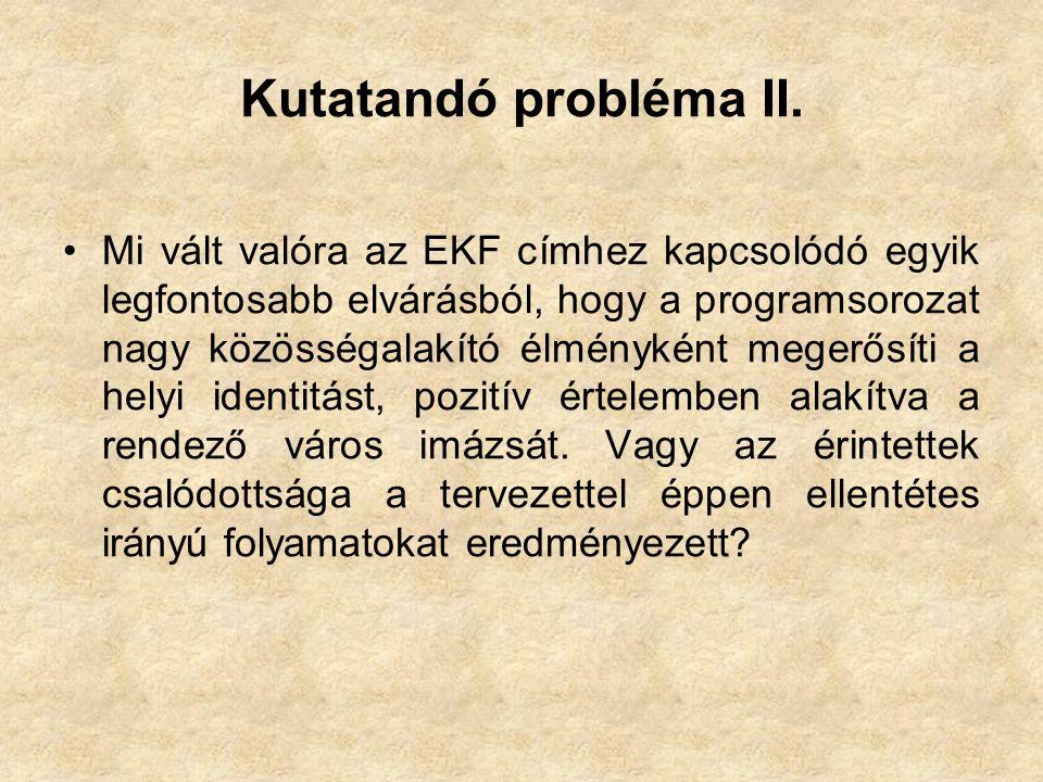 Kutatandó probléma II.