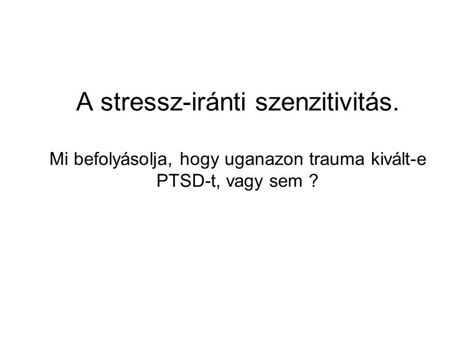 A stressz-iránti szenzitivitás. Mi befolyásolja, hogy uganazon trauma kivált-e PTSD-t, vagy sem ?
