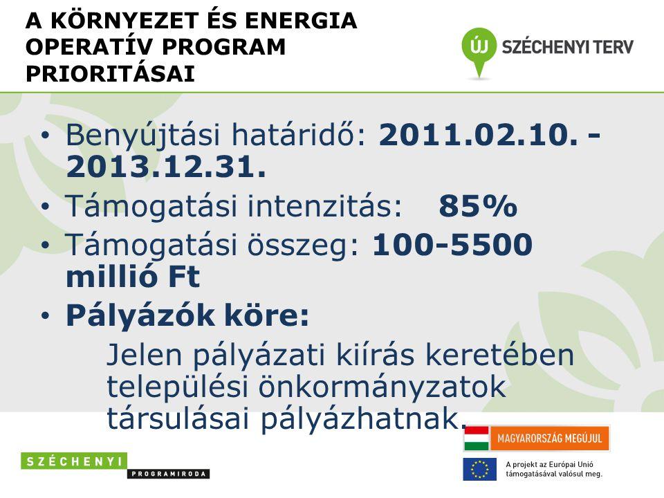 OP-k közötti forrásátcsoportosítás engedélyeztetése folyamatban… a Környezet es Energia Operatív Programra.