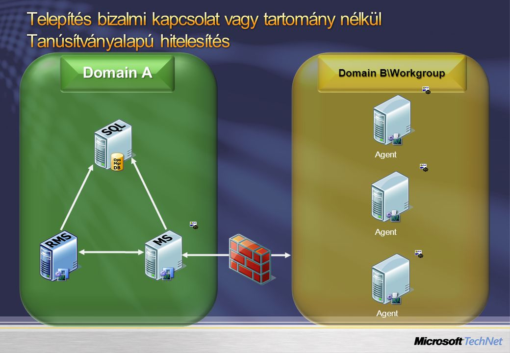 Domain A Domain B\Workgroup Agent