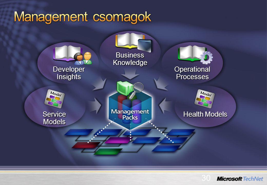 Service Models Health Models Business Knowledge Operational Processes Developer Insights 30