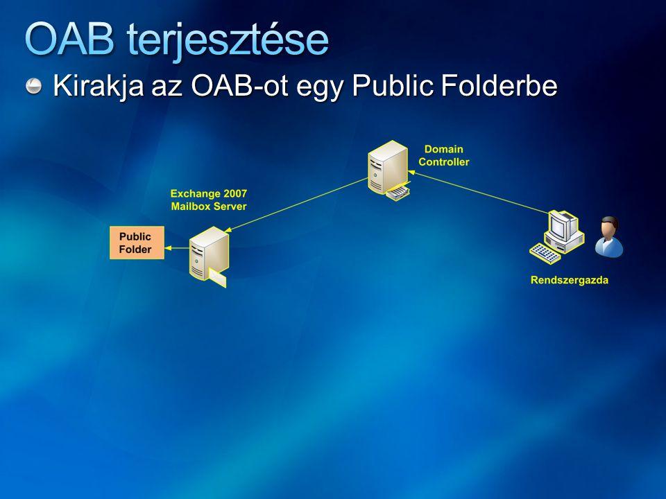 Kirakja az OAB-ot egy Public Folderbe
