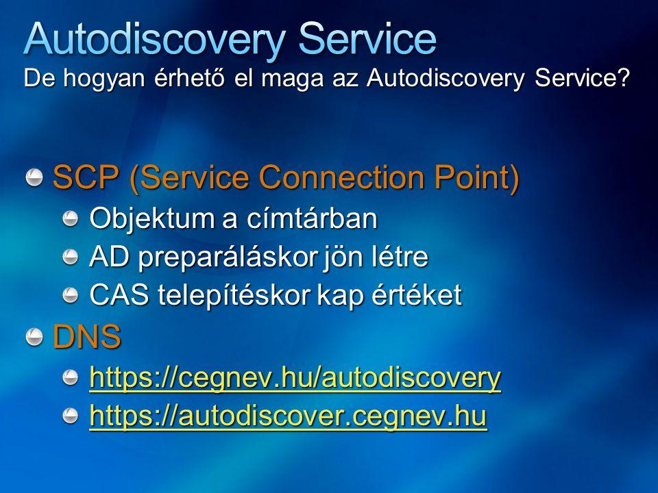 De hogyan érhető el maga az Autodiscovery Service.