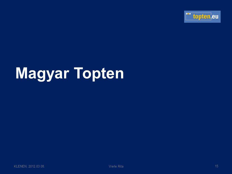 KLENEN, 2012.03.08.Werle Rita Magyar Topten 15