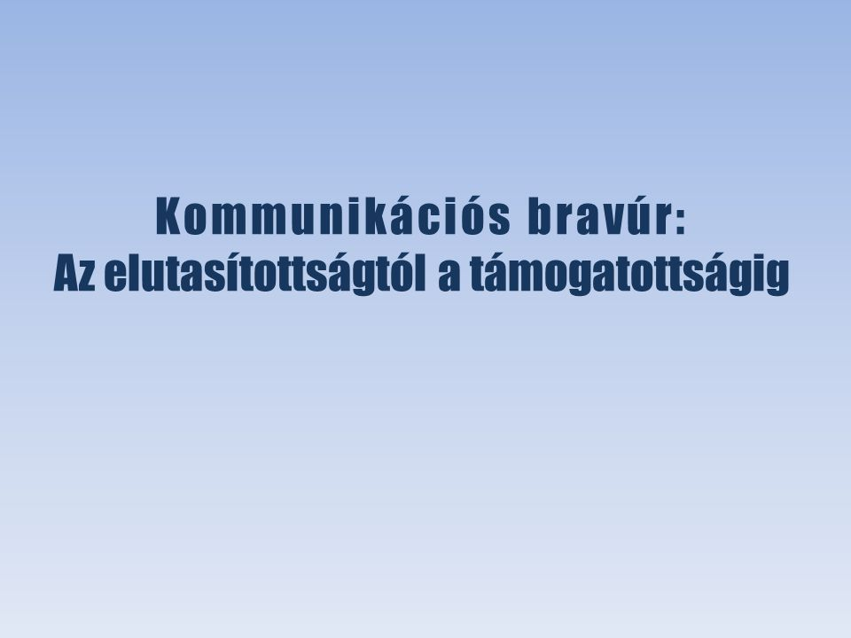 Péterfi Dóra Ágnes XXX. OTDK - Társadalomtudományi szekció Társadalmi és politikai kommunikáció