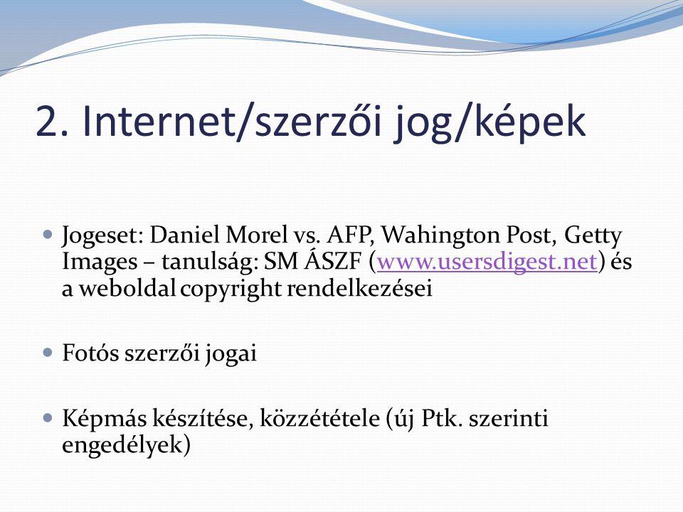 2.Internet/szerzői jog/képek  Jogeset: Daniel Morel vs.