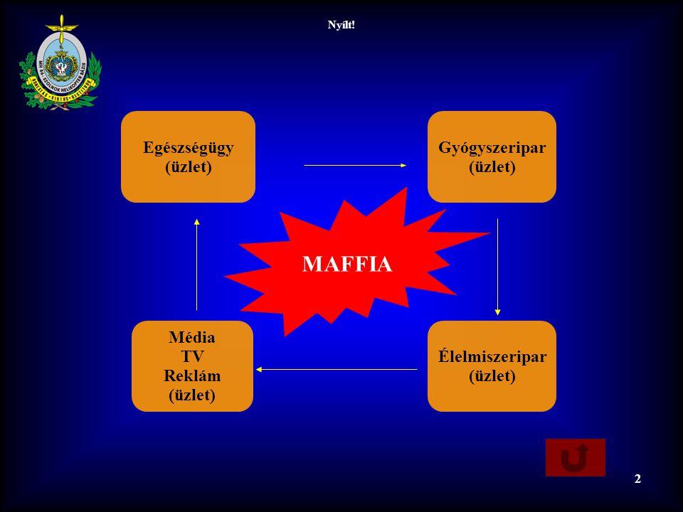 Nyílt! 2 Média TV Reklám (üzlet) Élelmiszeripar (üzlet) Gyógyszeripar (üzlet) Egészségügy (üzlet) MAFFIA