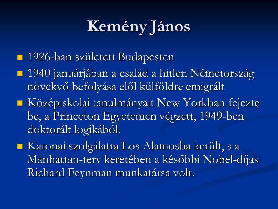 Kemény János  1926-ban született Budapesten  1940 januárjában a család a hitleri Németország növekvő befolyása elől külföldre emigrált  Középiskola