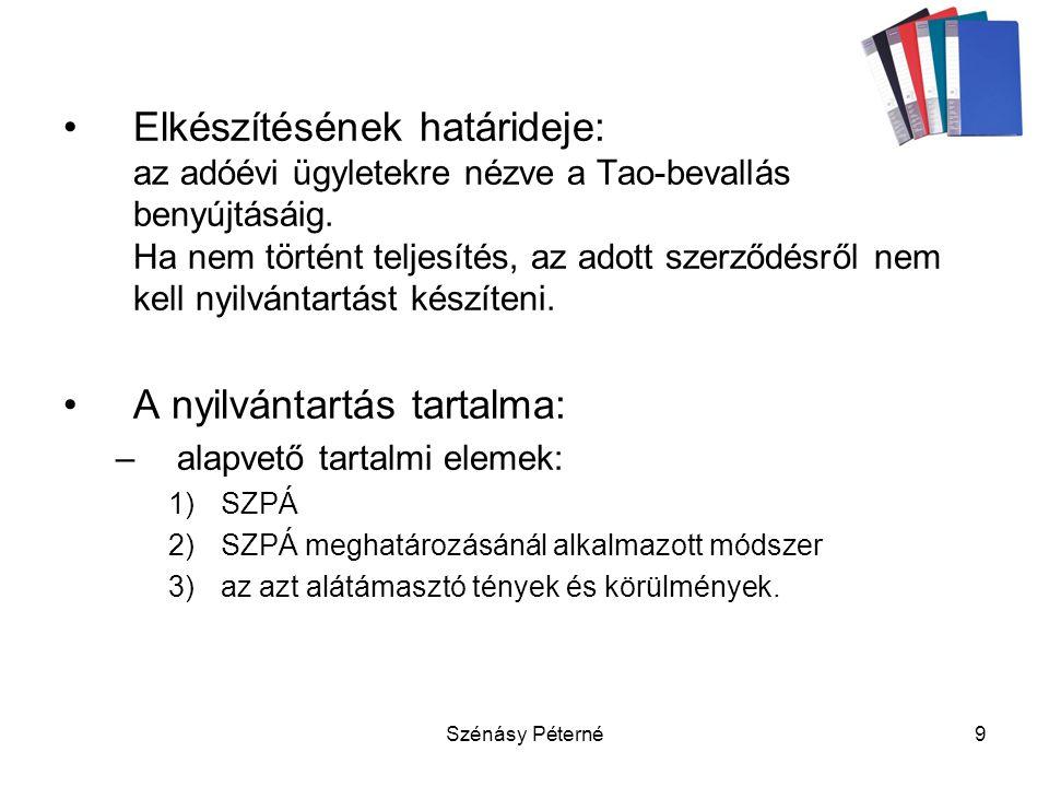 Szénásy Péterné20 4.Innovációs járulék 2003. évi XC-tv.