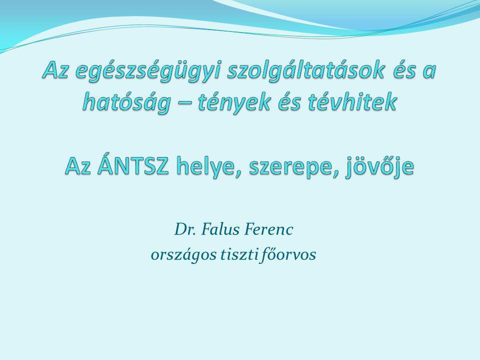 Dr. Falus Ferenc országos tiszti főorvos