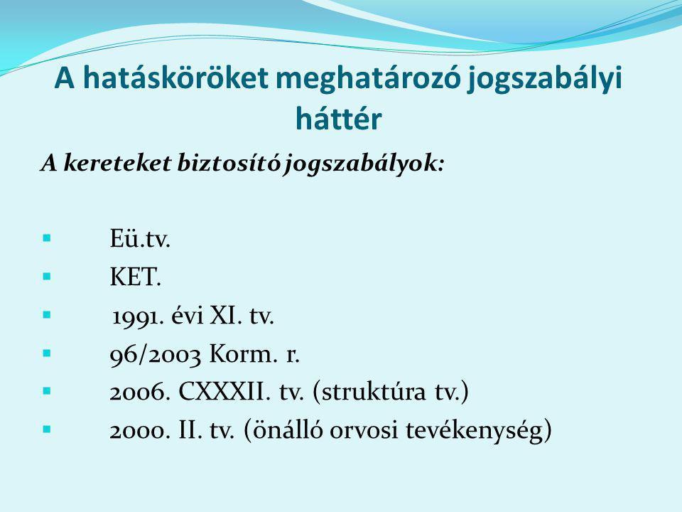 A minimumfeltételek rendszere X.