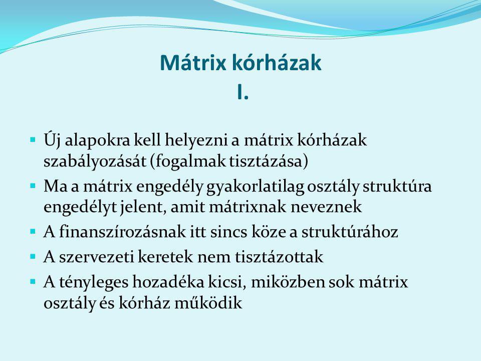 Mátrix kórházak I.