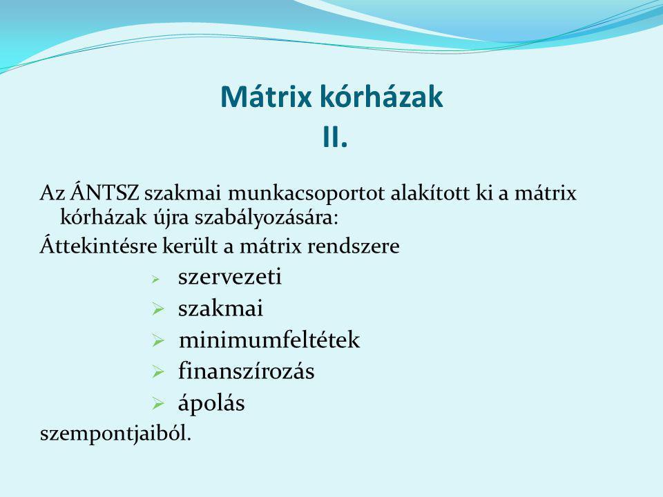 Mátrix kórházak II.