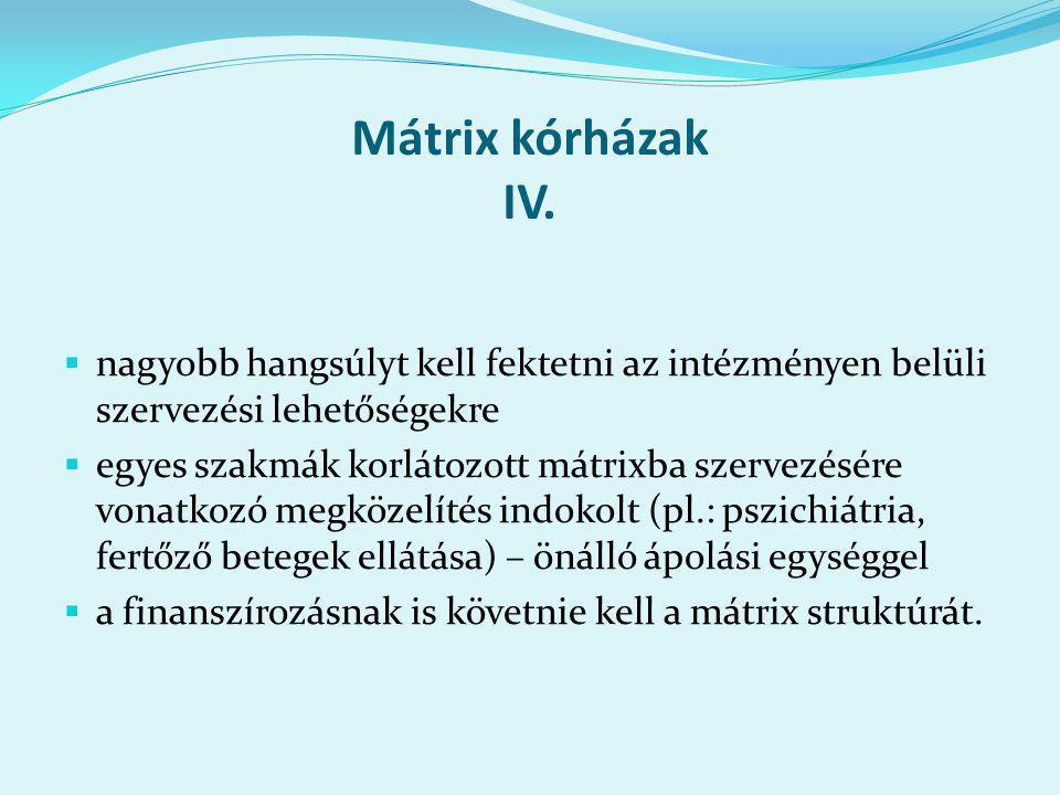 Mátrix kórházak IV.