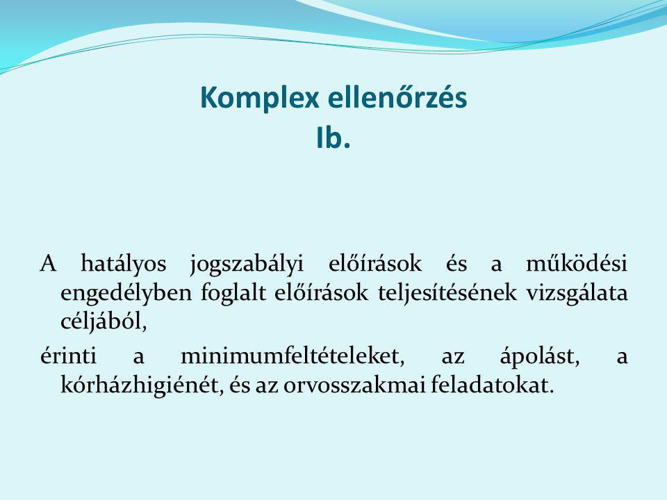 Komplex ellenőrzés Ib.