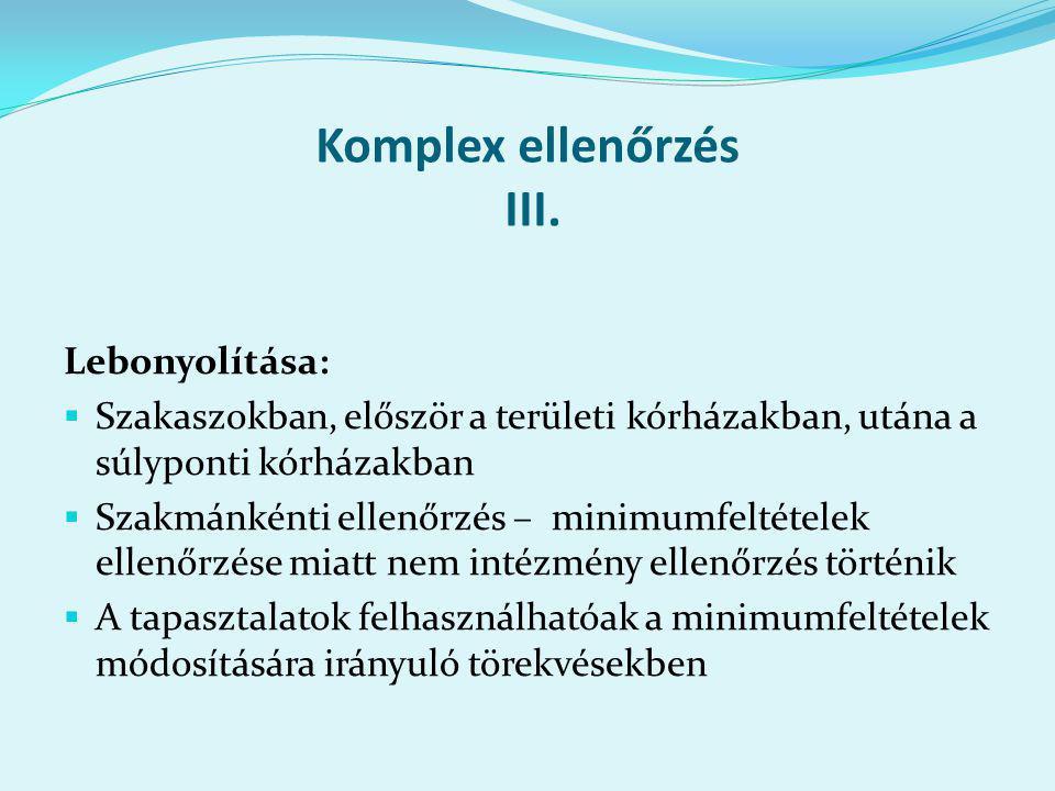 Komplex ellenőrzés III.