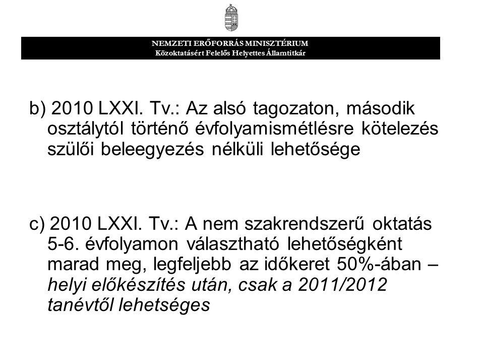 b) 2010 LXXI.