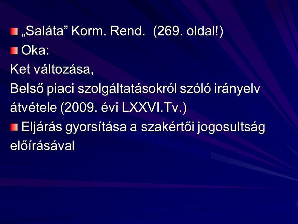 """""""Saláta Korm. Rend. (269."""
