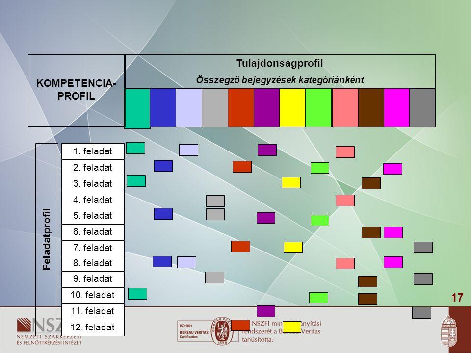 17 KOMPETENCIA- PROFIL Feladatprofil 1.feladat 2.