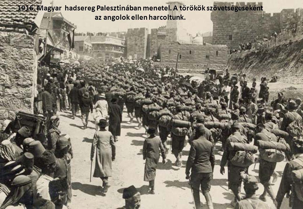 1915. Magyar hadifoglyok az első világháborúban Oroszországban.