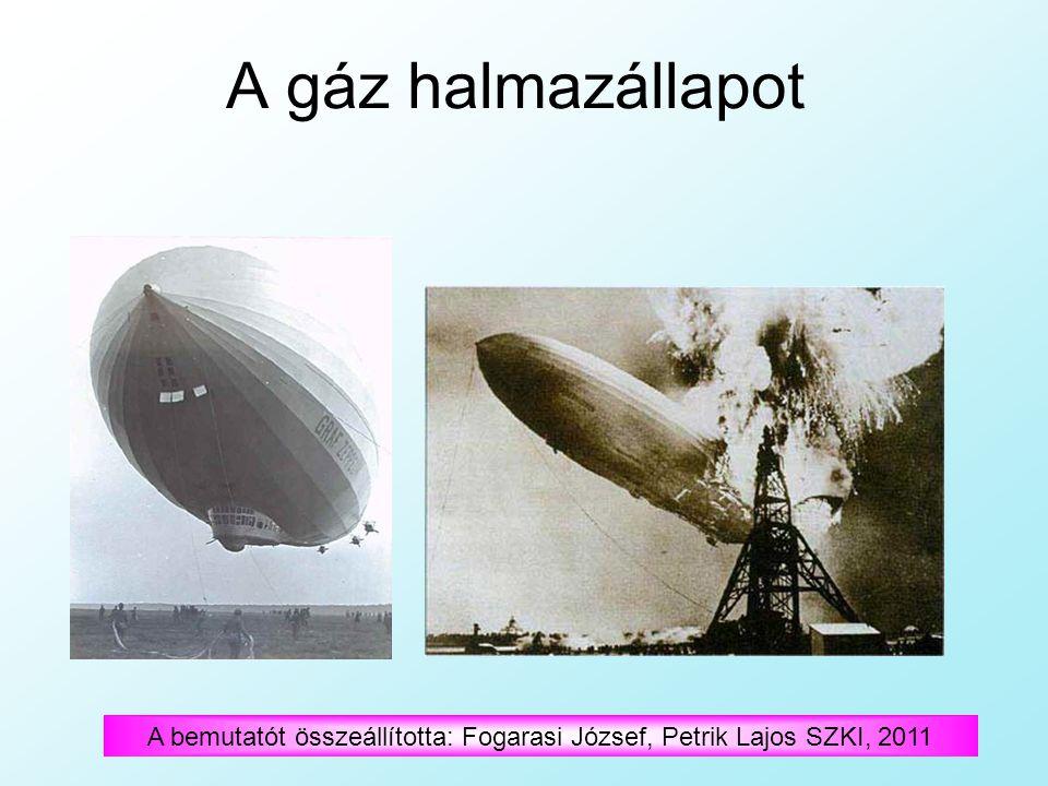 A gáz halmazállapot A bemutatót összeállította: Fogarasi József, Petrik Lajos SZKI, 2011