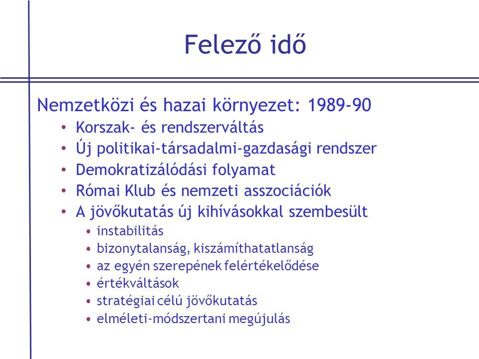 Felező idő Nemzetközi és hazai környezet: 1989-90 • Korszak- és rendszerváltás • Új politikai-társadalmi-gazdasági rendszer • Demokratizálódási folyam