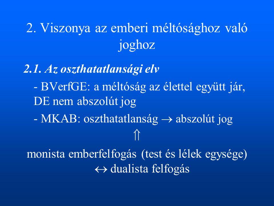 Hollandia, Belgium: aktív eutanázia Magyarország: –LB: Binder-ügy –Eütv.: a kezelés-visszautasítás feltételei –22/2003.