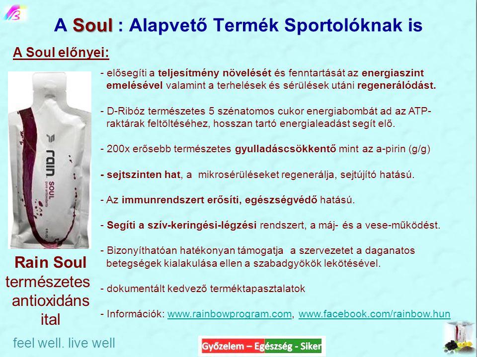 Soul A Soul : Alapvető Termék Sportolóknak is Rain Soul természetes antioxidáns ital - elősegíti a teljesítmény növelését és fenntartását az energiasz