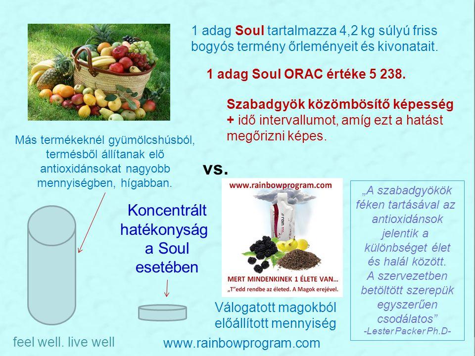 Más termékeknél gyümölcshúsból, termésből állítanak elő antioxidánsokat nagyobb mennyiségben, hígabban. Válogatott magokból előállított mennyiség 1 ad