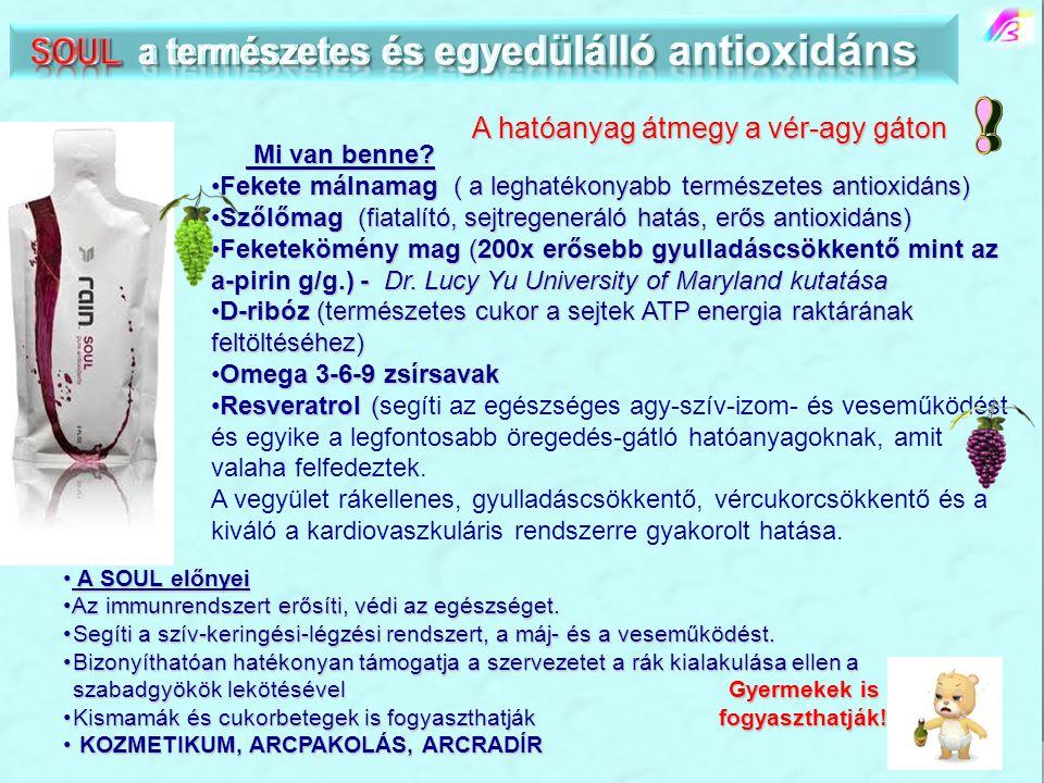 Mi van benne? Mi van benne? •Fekete málnamag ( a leghatékonyabb természetes antioxidáns) •Szőlőmag (fiatalító, sejtregeneráló hatás, erős antioxidáns)