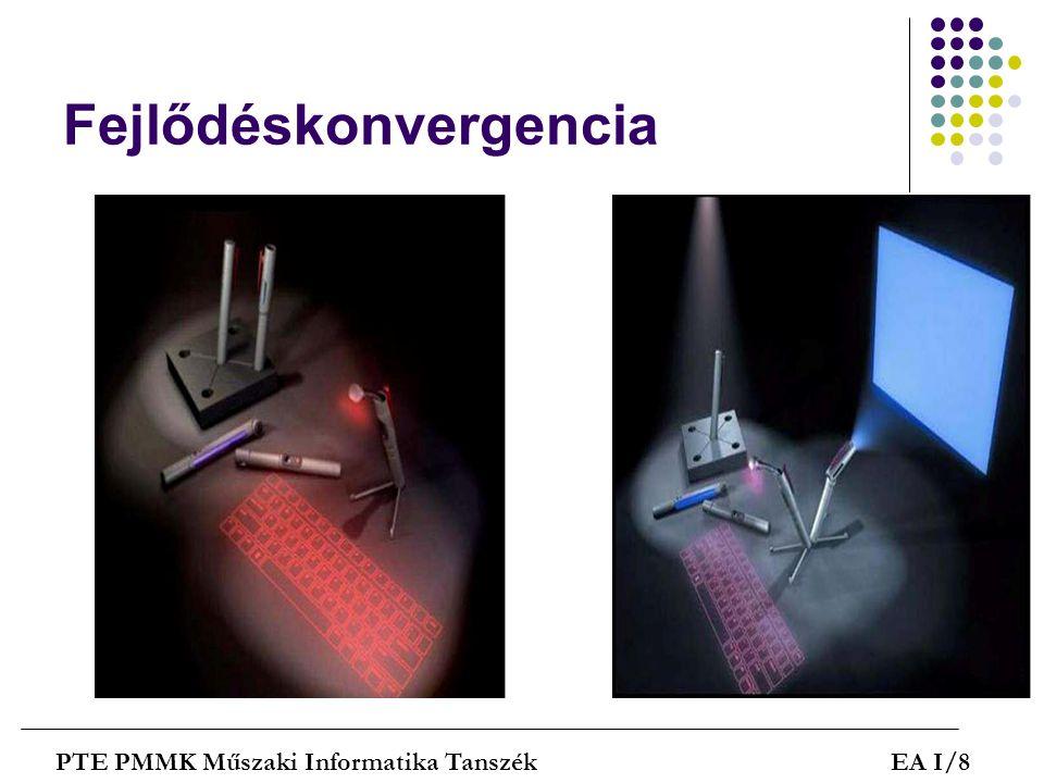 Fejlődéskonvergencia PTE PMMK Műszaki Informatika TanszékEA I/8